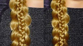Причёски самой себе на каждый день. Причёска Ажурная коса.Обратная коса с плетением косички внутри
