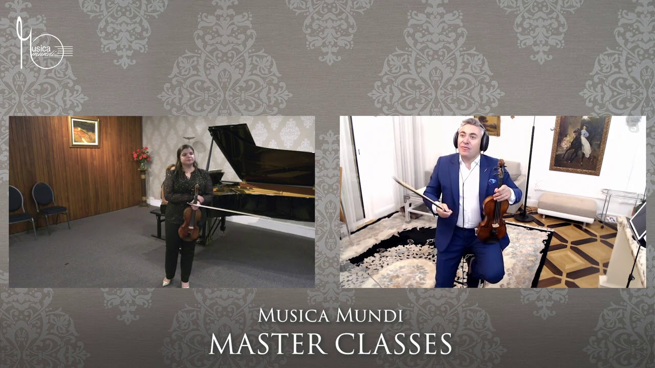 Maxim Vengerov, the Legendary Violinist, in a Musica Mundi Master Class