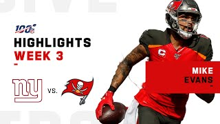 Mike Evans Can't Be Stopped w/ 190 Yds & 3 TDs | NFL 2019 Highlights