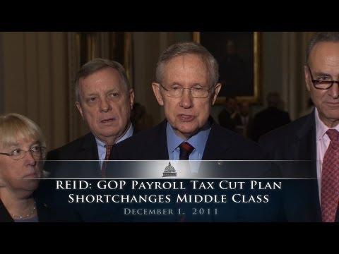 Reid: GOP Payroll Tax Cut Plan Shortchanges Middle Class