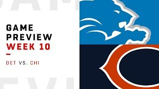 Detroit Lions vs. Chicago Bears | Week 10 Game Preview | Move the Sticks