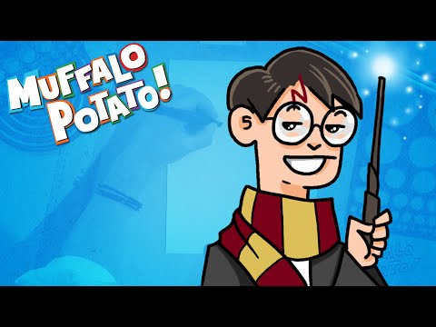 How to Draw HARRY POTTER Using Letters and Numbers with ...