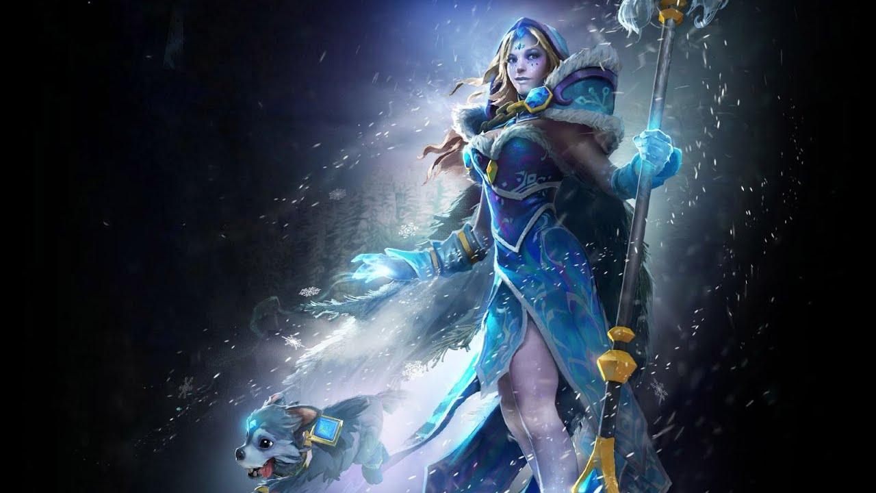 Dota 2 Arcana: Dota 2 Crystal Maiden Arcana Game Play