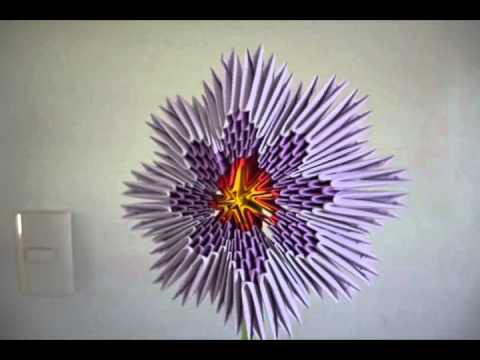 Origami Flor 3d Youtube