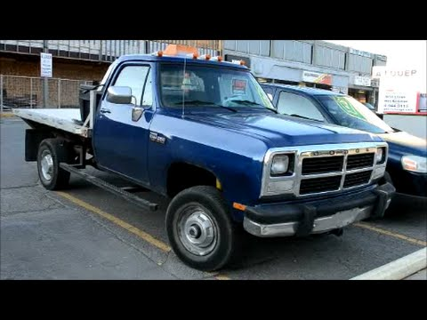 nice 39 92 dodge power ram 250 sighting youtube. Black Bedroom Furniture Sets. Home Design Ideas