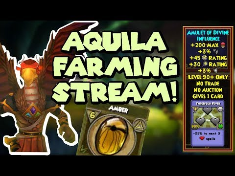 Wizard101 Farming Livestream: AMBER, ATHAMES, AND AMULETS IN AQUILA!  (TARTARUS RUNS)