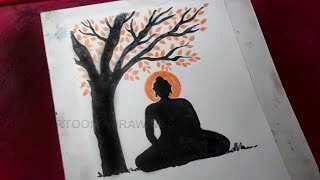 How to Draw Gautam Buddha Drawing