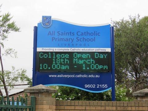 Electronic Sign - All Saints Catholic Primary School, Sydney