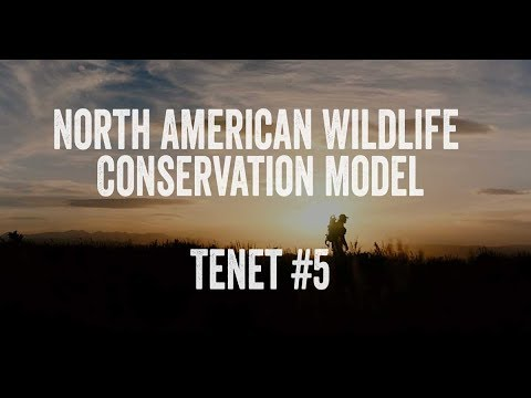 North American Wildlife Conservation Model - Tenet #5