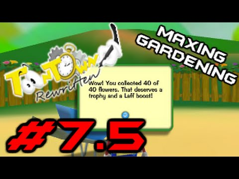 Toontown Rewritten Part 7 5 Maxing Gardening Youtube