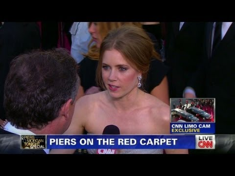 Piers Morgan with Amy Adams on the Red Carpet