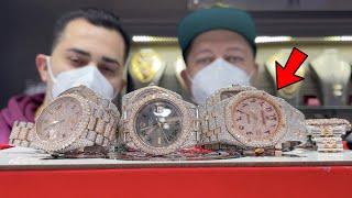 LooK AT 2 Tone CARTIER , ROLEX and Audemars PIGUET Rose GOLD Watches !