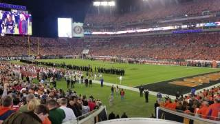 CFP National Championship - Anthem and Fly Over - January 9, 2017
