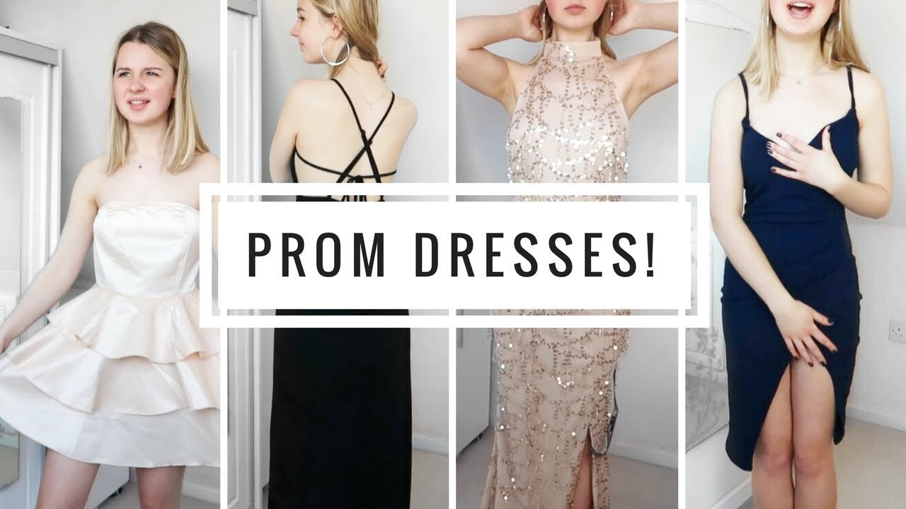 e1739ec01db TESTING PROM DRESSES FROM PRETTYLITTLETHING UNDER £50! - YouTube