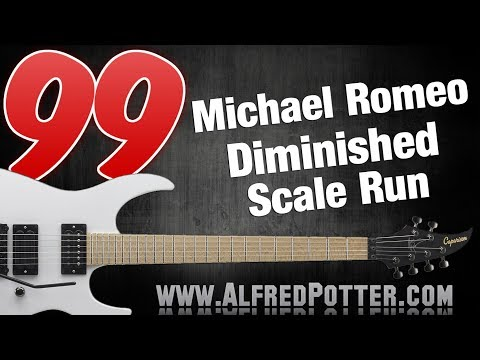 Lick #99 - Michael Romeo Diminished Scale Run