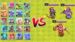 MAX TROOPS VS LEVEL 1 HEROES | WHO WILL WIN ?? | COC Private Server