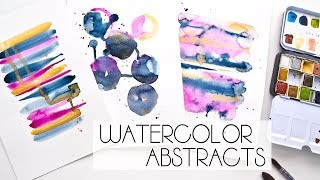 Three Easy Watercolor Abstract Inspiration
