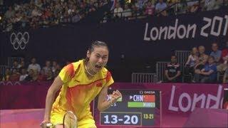 Wang Yihan Wins Badminton Bronze - London 2012 Olympics