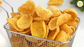 Potato Crackers /Asian Style Potato Chips Recipe for kids by Tiffin Box | Spicy crispy cracker chips