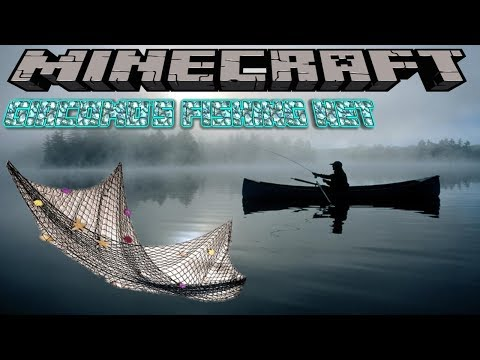 GIACOMO'S FISHING NET MOD UPDATED - MINECRAFT 1.12.2 (MOD SHOWCASE)