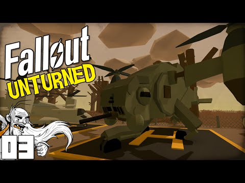 "Fallout Unturned Mods! ""SWEET MILITARY HELICOPTER!!!"" - Unturned Gameplay"