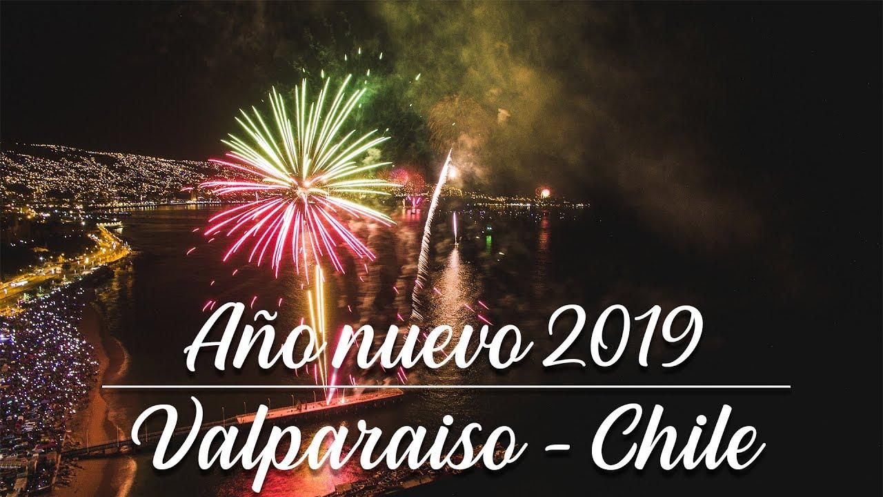 Ano Nuevo 2019 Fuegos Artificiales Valparaiso Vina Del Mar