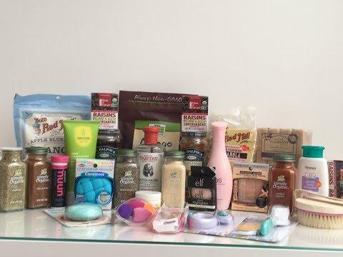 Неприлично большой заказ с сайта Iherb, декоративная косметика, еда, уход, кисти и спонжи