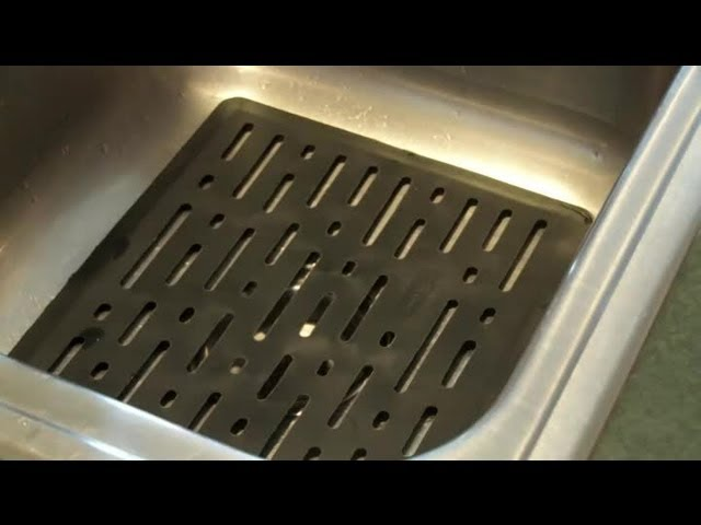 How To Clean Rubber Mats In A Kitchen Sink Cleaning The Kitchen Youtube