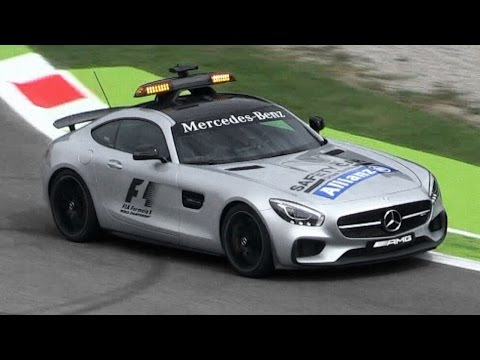 Mercedes AMG GT S F1 Safety Car Sound - Accelerations, Backfires & More