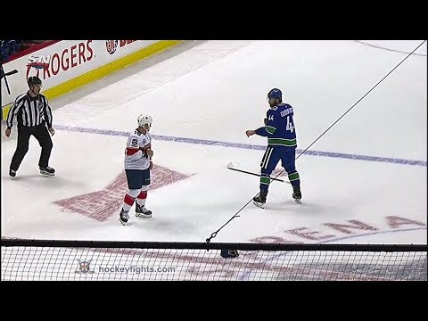 Micheal Haley vs Erik Gudbranson Jan 13, 2019
