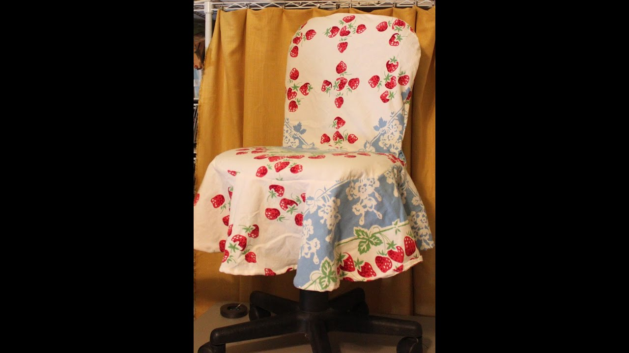 Desk Chair Cover Wooden Folding Chairs For Rent Simply Sewn Office Slipcover Youtube