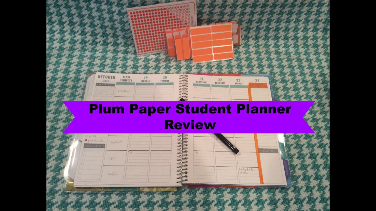 plum paper student planner review