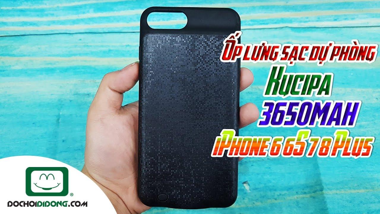 Ốp lưng sạc dự phòng iPhone 6 6S 7 8 Plus Kucipa 3650mah