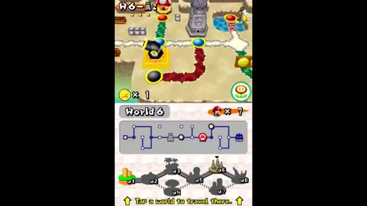Nsmb World 6 Cannon Youtube