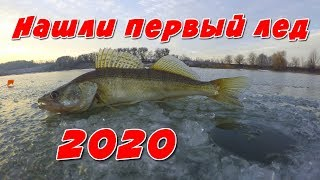 Ловля Окуня На Гвоздешарик! ПЕРВЫЙ ЛЕД 2020! Нашли лед! Зимняя рыбалка на Жерлицы!