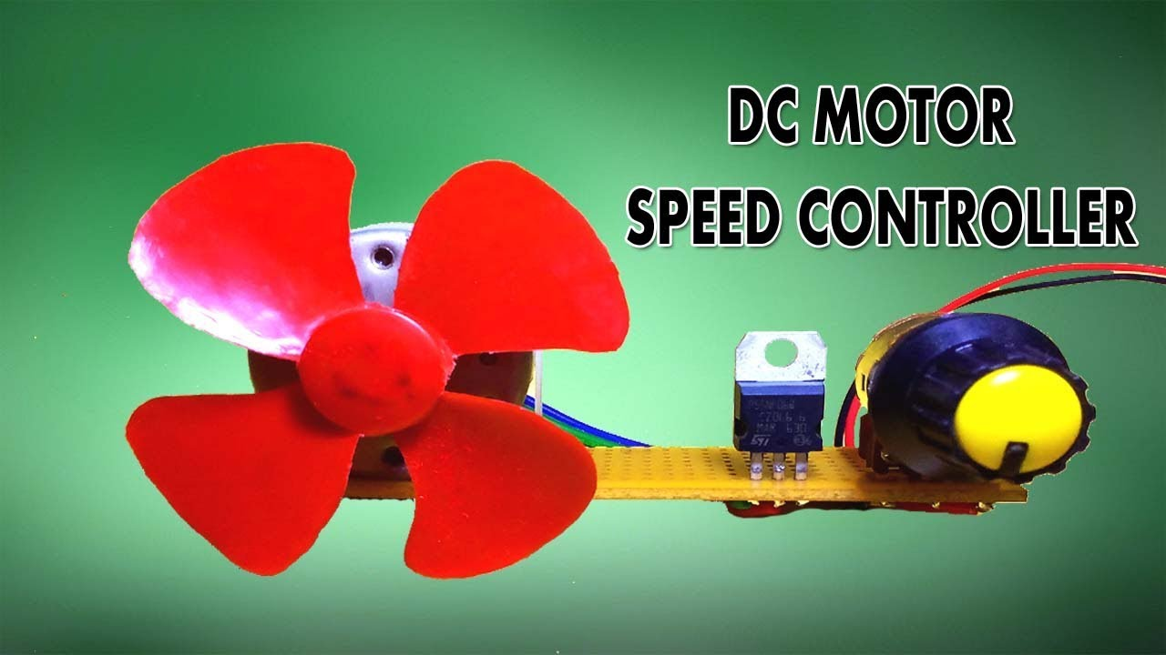 How To Make A Simple Dc Motor Speed Controller Using Mosfet Tech Simpledccircuit
