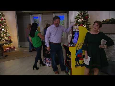 Arcade1Up Pac-Man Or Galaga Home Arcade Machine With Riser On QVC