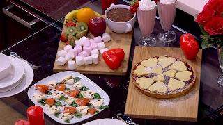 باستا فلورا - فوندو الشيكولاتة - سموذي تشيز كيك الفراولة - سلطة كابريس   اميرة في المطبخ حلقة كاملة