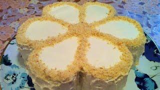 Торт Минутка на Сгущенном Молоке / Торт на Сковороде / Быстрый Торт / Торт Цветок