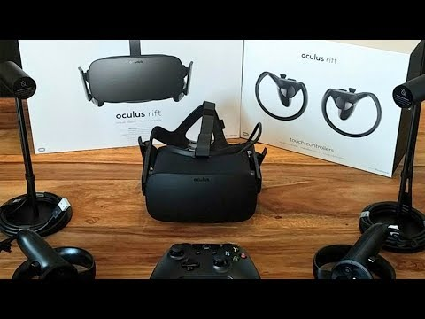 Oculus Rift + Touch Controller - Unboxing - VR Headset