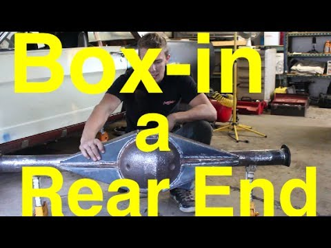 How To Box In A Differential Housing Rear End 66