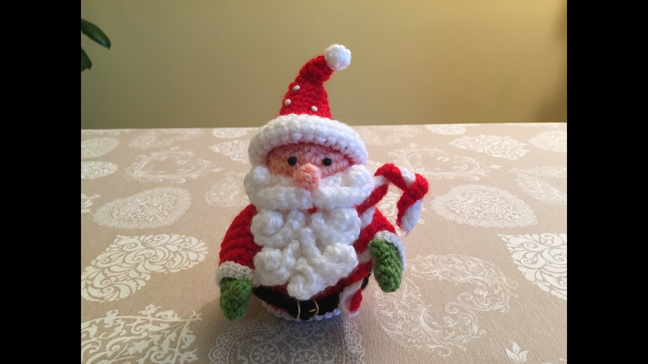 Amigurumi Natale.Crochet Santa Amigurumi Tutorial Design Peak
