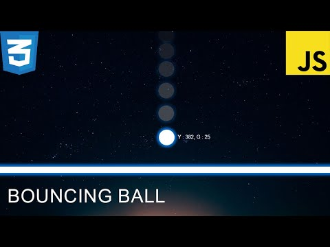 How To Create a Bouncing Ball - Using HTML, CSS and JavaScript Tutorial thumbnail