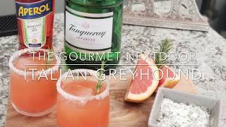 Italian Greyhound Cocktail with Rosemary Sugar
