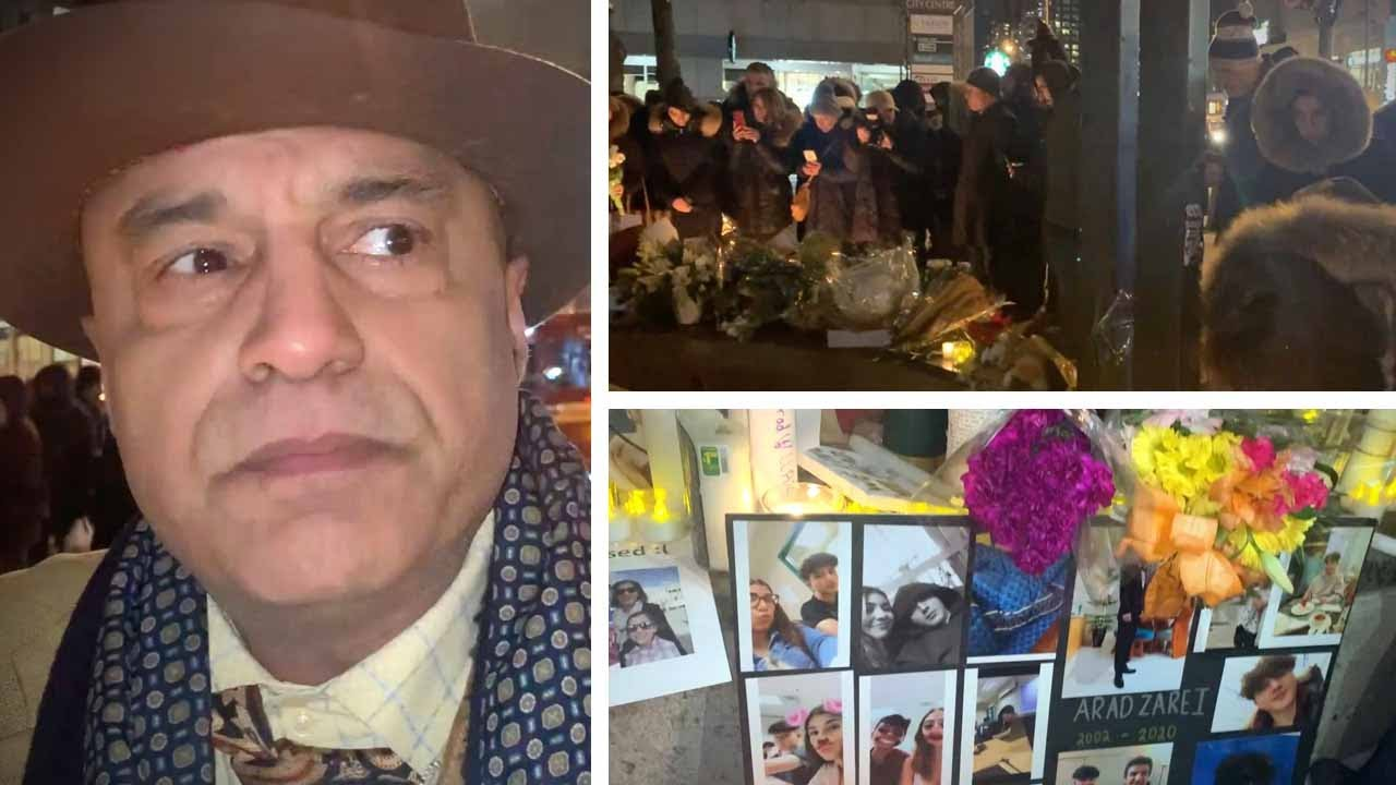 """There is no safety in Iran"": Candlelight vigil for plane crash victims in Toronto 
