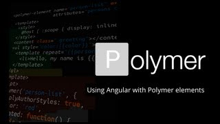 Using Angular with Polymer elements