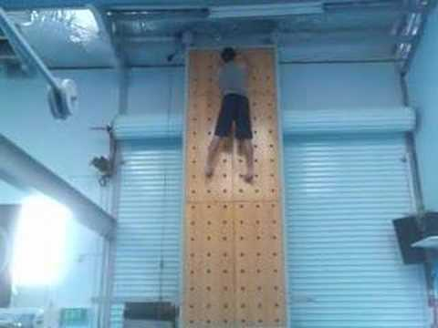 Me Climbing Up The Peg Board