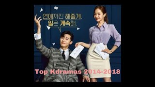 My TOP 10 Best Korean Dramas (2010-2018) #koreandramas