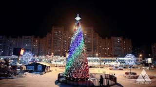 Световая ёлка Радуга. Ёлкин Дом | Christmas Tree Rainbow. Elkin Dom