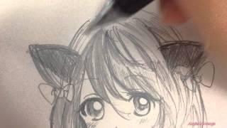 Draw a Manga Girl 💚  畫漫畫吧!